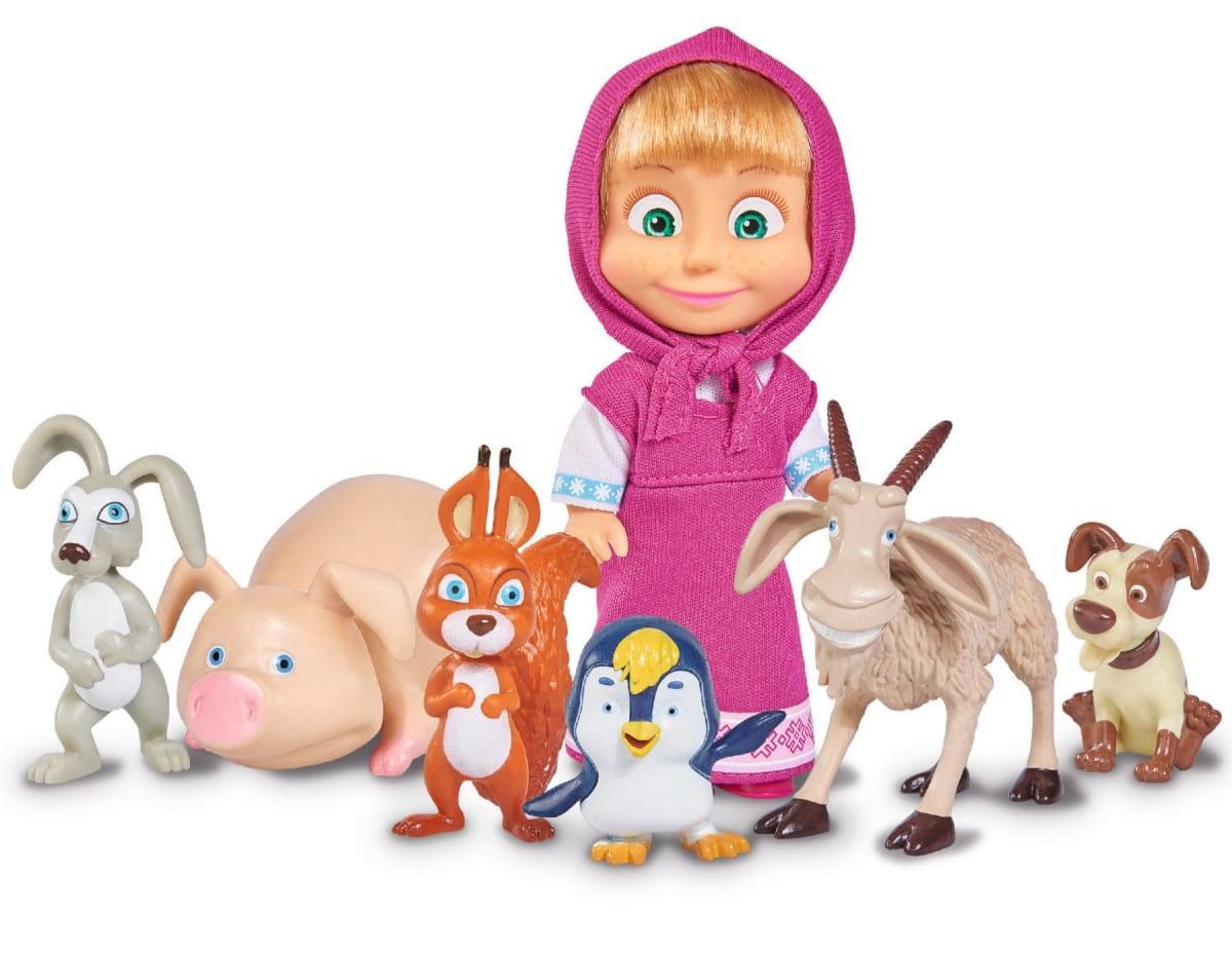 Игровой набор Маша и Медведь Маша с друзьями-животными (SIMBA) - Маша и медведь