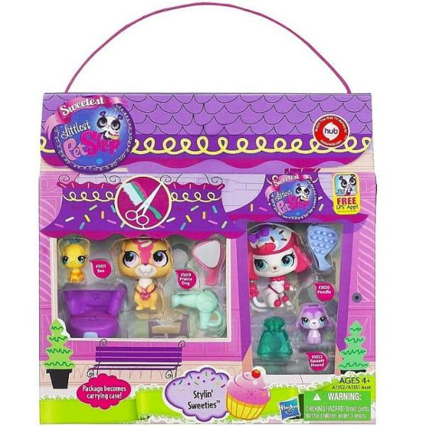 Купить Игровой набор Littlest Pet Shop Мини-коллекция Салон красоты (Hasbro) в интернет магазине игрушек и детских товаров