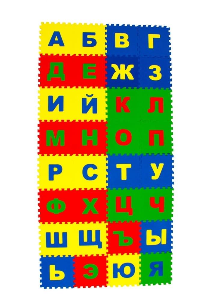 Напольная мозаика - пазл ECO COVER Русский алфавит