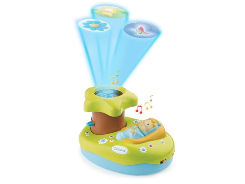 Музыкальный проектор Cotoons со светом и звуком  синий (Smoby) - Ночники