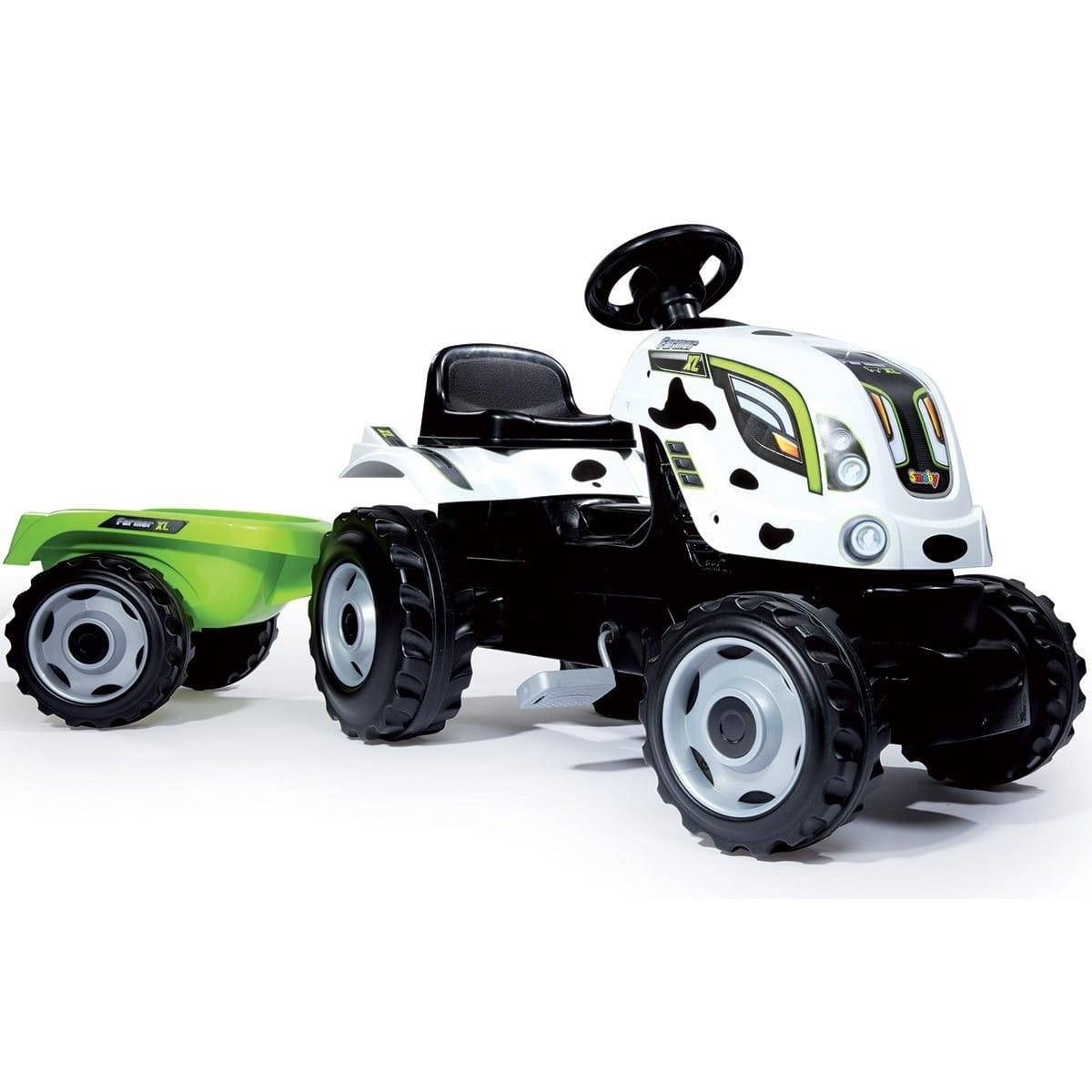 Трактор педальный Smoby XL с прицепом  пятнистый - Каталки и ходунки