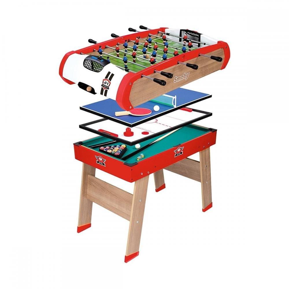 Игровой стол SMOBY 4 в 1 (бильярд, теннис, футбол)