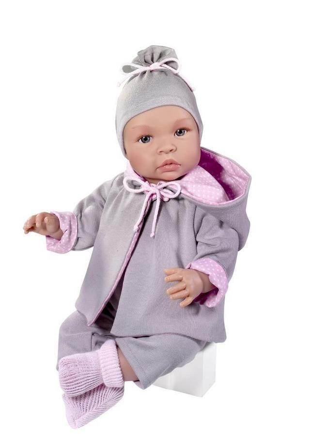 Кукла ASI Лео - 46 см (в серо-розовом костюмчике)