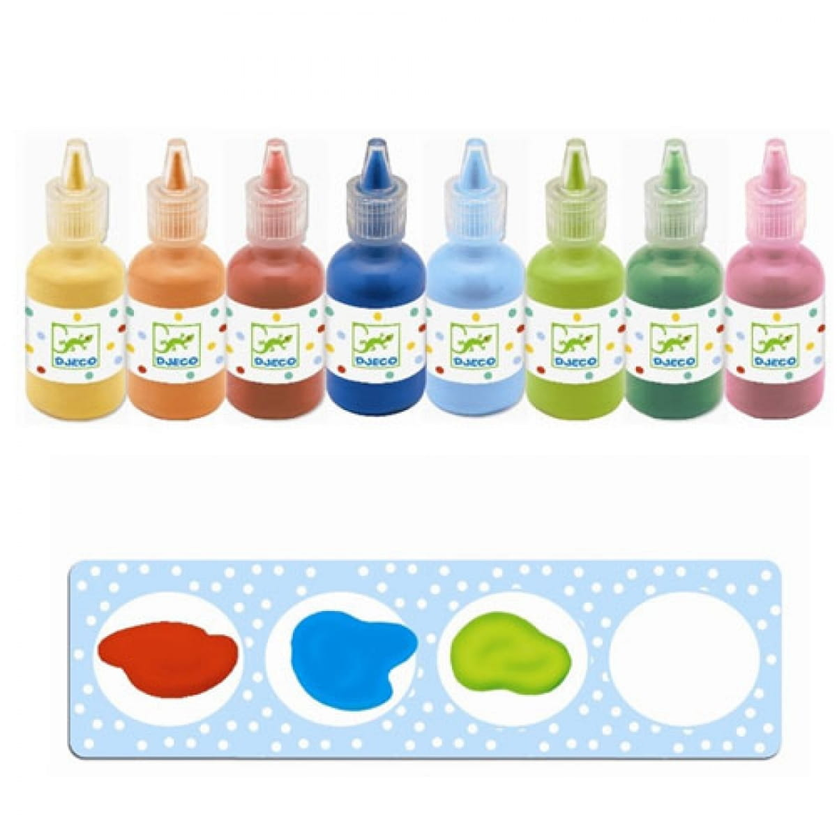 Краски для рисования пальцами DJECO