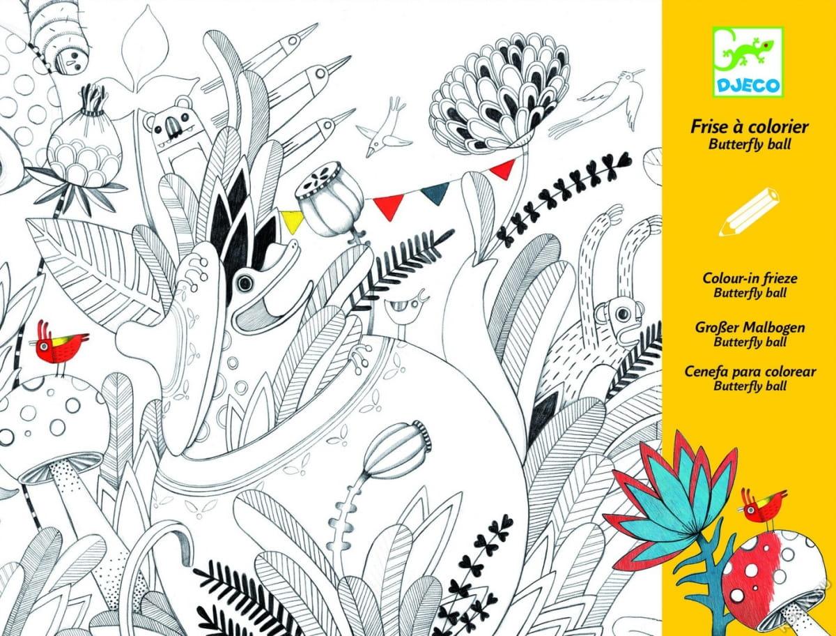 Раскраска DJECO Бал бабочек