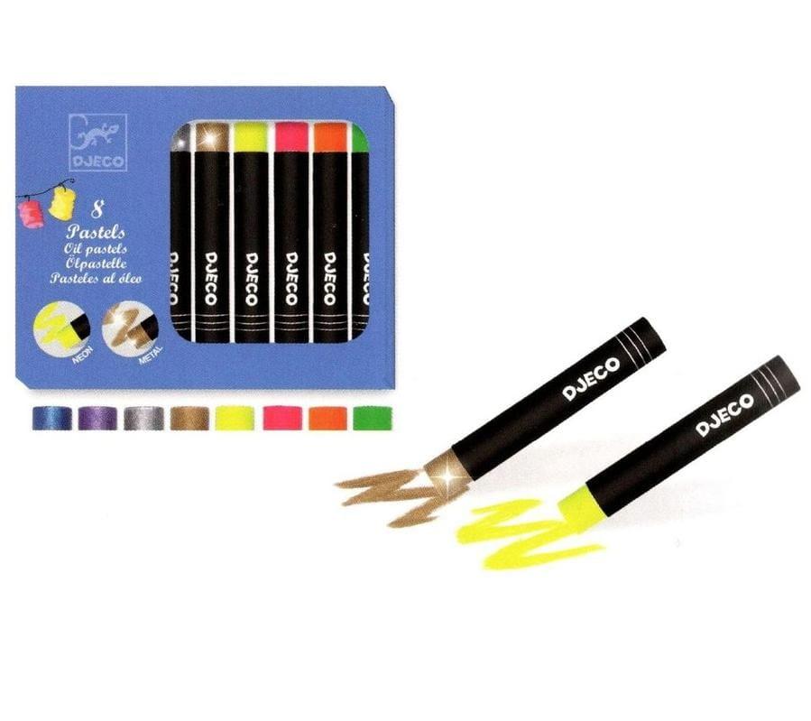 Набор пастельных карандашей DJECO 8 ярких цветов