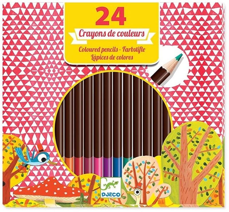 Набор цветных карандашей DJECO - 24 штуки
