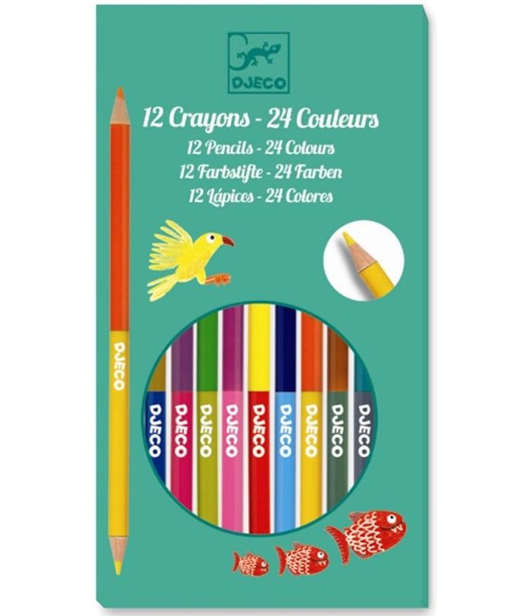 Набор двусторонних карандашей DJECO - 12 штук