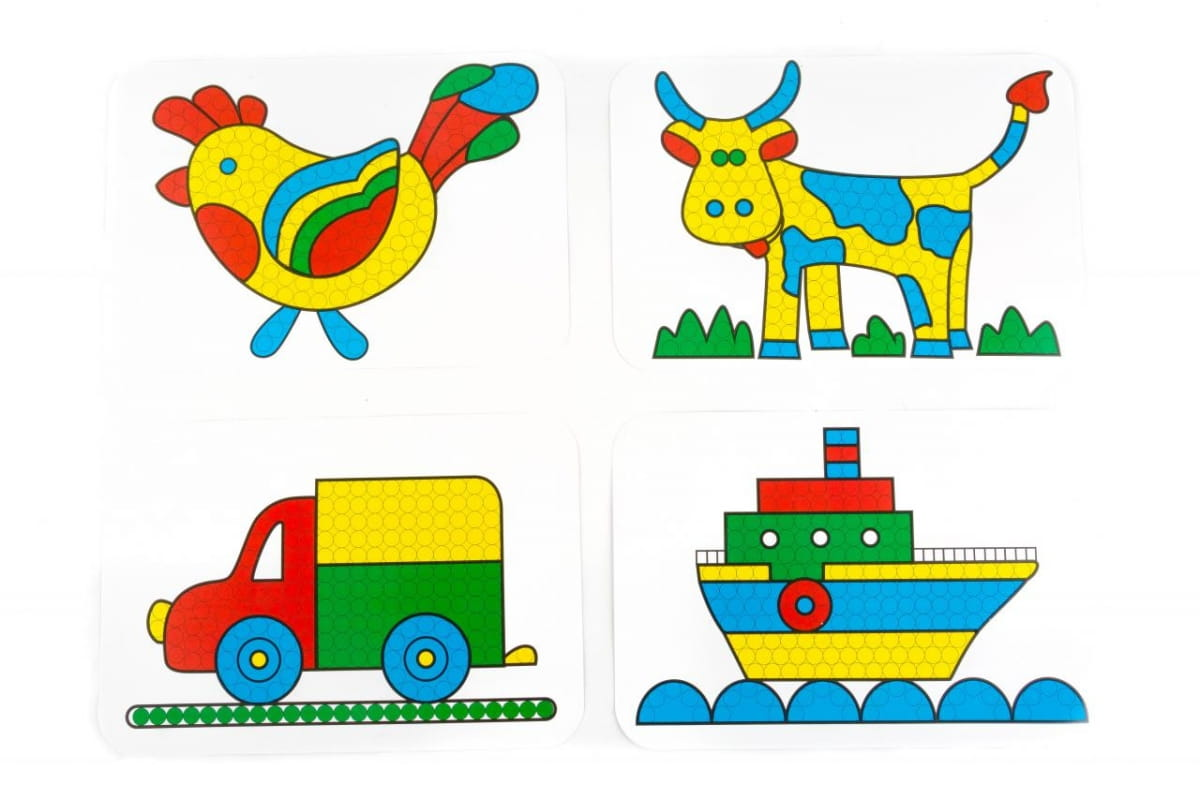 Мозаика Пластмастер С картинками (диаметр  10 мм) - Развивающие центры и игрушки