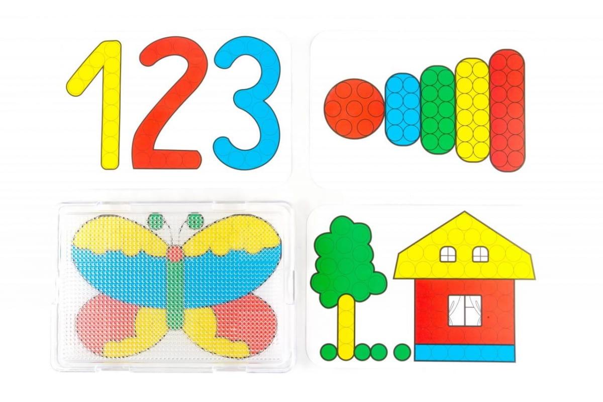 Мозаика Пластмастер С картинками (диаметр  20 мм) - Развивающие центры и игрушки