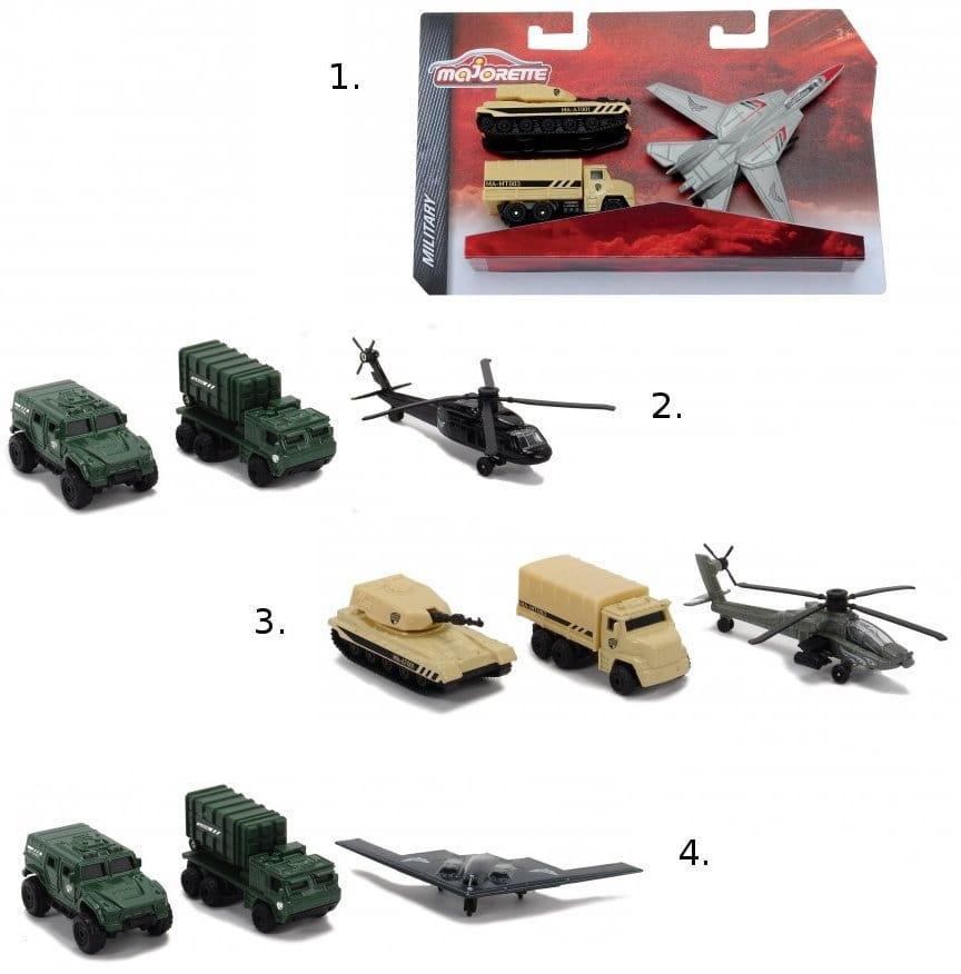 Игровой набор военной спецтехники MAJORETTE - 3 штуки