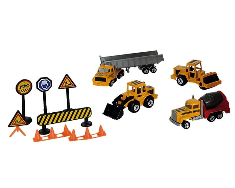 Игровой набор MAJORETTE Строительная техника и дорожные знаки