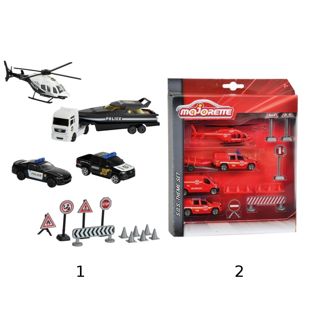 Игровой набор MAJORETTE Спасательные машины и дорожные знаки