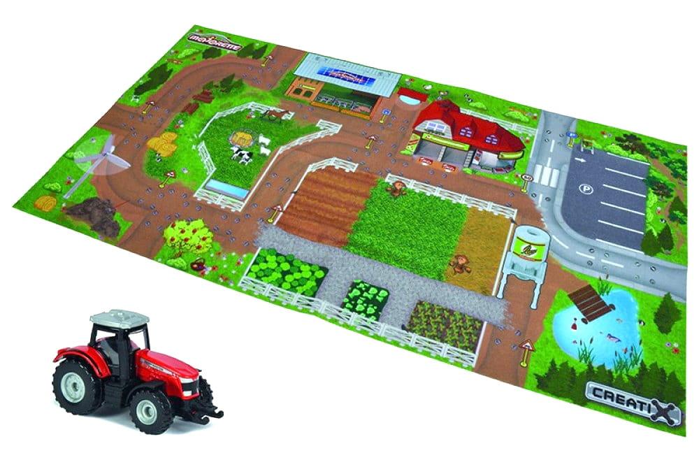 Игровой коврик MAJORETTE Creatix Farm  96х51 см (1 машинка) - Игровые наборы для мальчиков