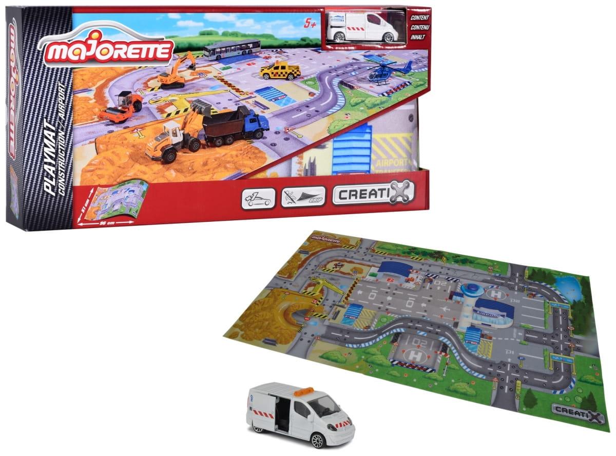 Игровой коврик MAJORETTE Creatix Construction  96x51 см (1 машинка) - Игровые наборы для мальчиков