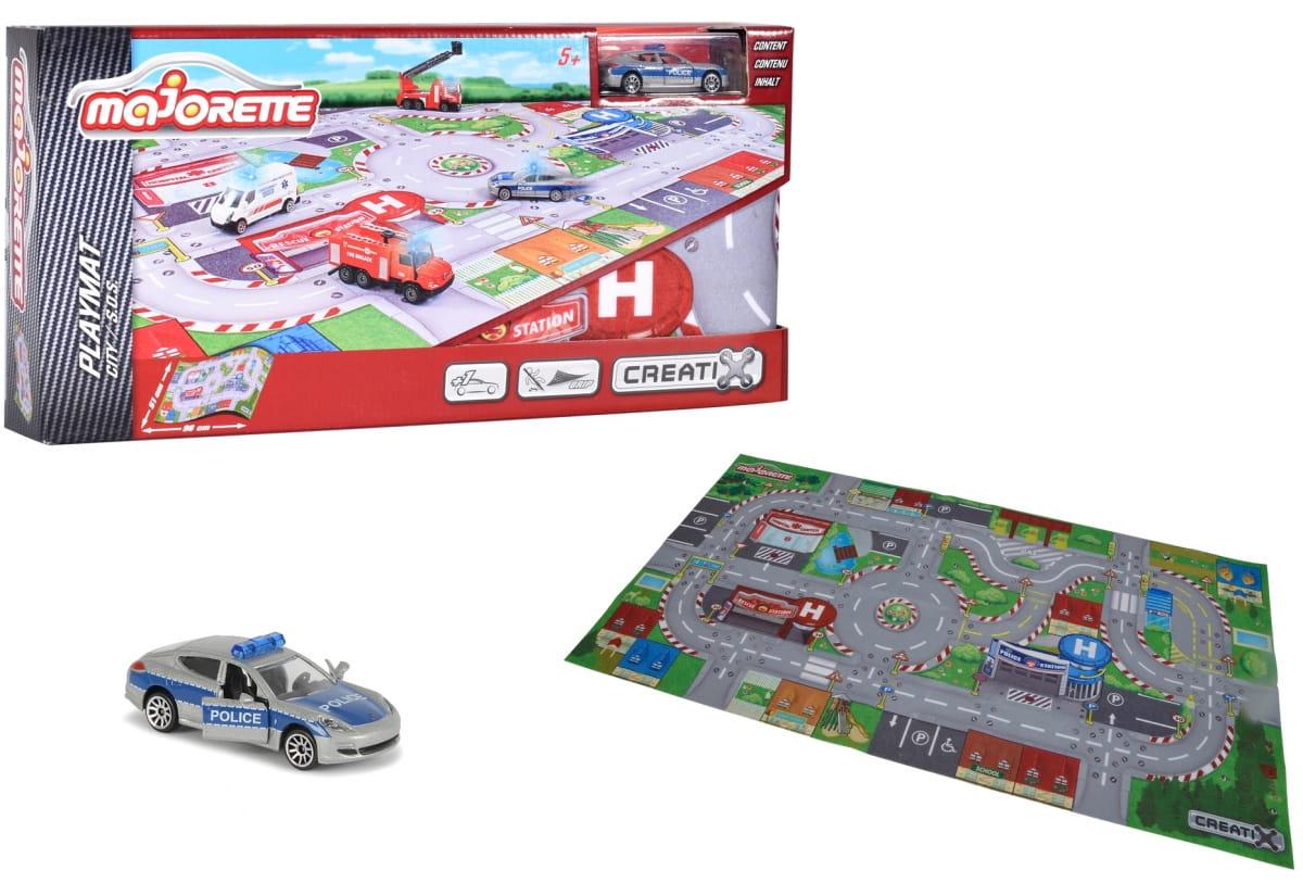 Игровой коврик MAJORETTE Creatix SOS  96х51 см (1 машинка) - Игровые наборы для мальчиков