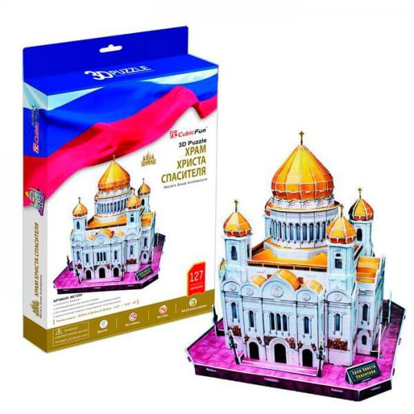 Купить Объемный 3D пазл CubicFun Храм Христа Спасителя (Россия) в интернет магазине игрушек и детских товаров