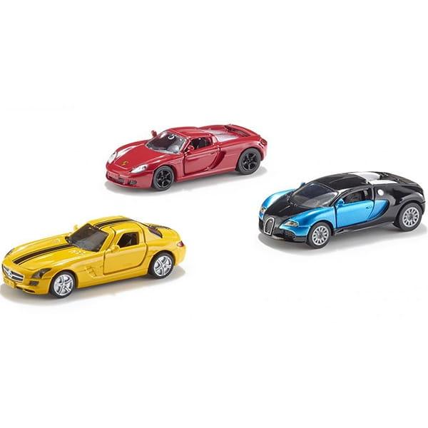 Набор машинок SIKU (Porsche Carrera GT, Bugatti Veyron, Mercedes-Benz SLS)