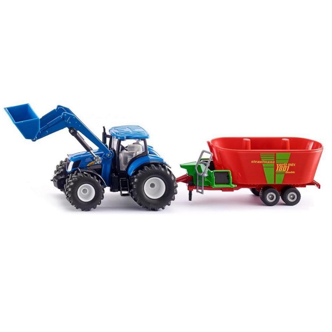 Трактор SIKU New Holland с фронтальным погрузчиком