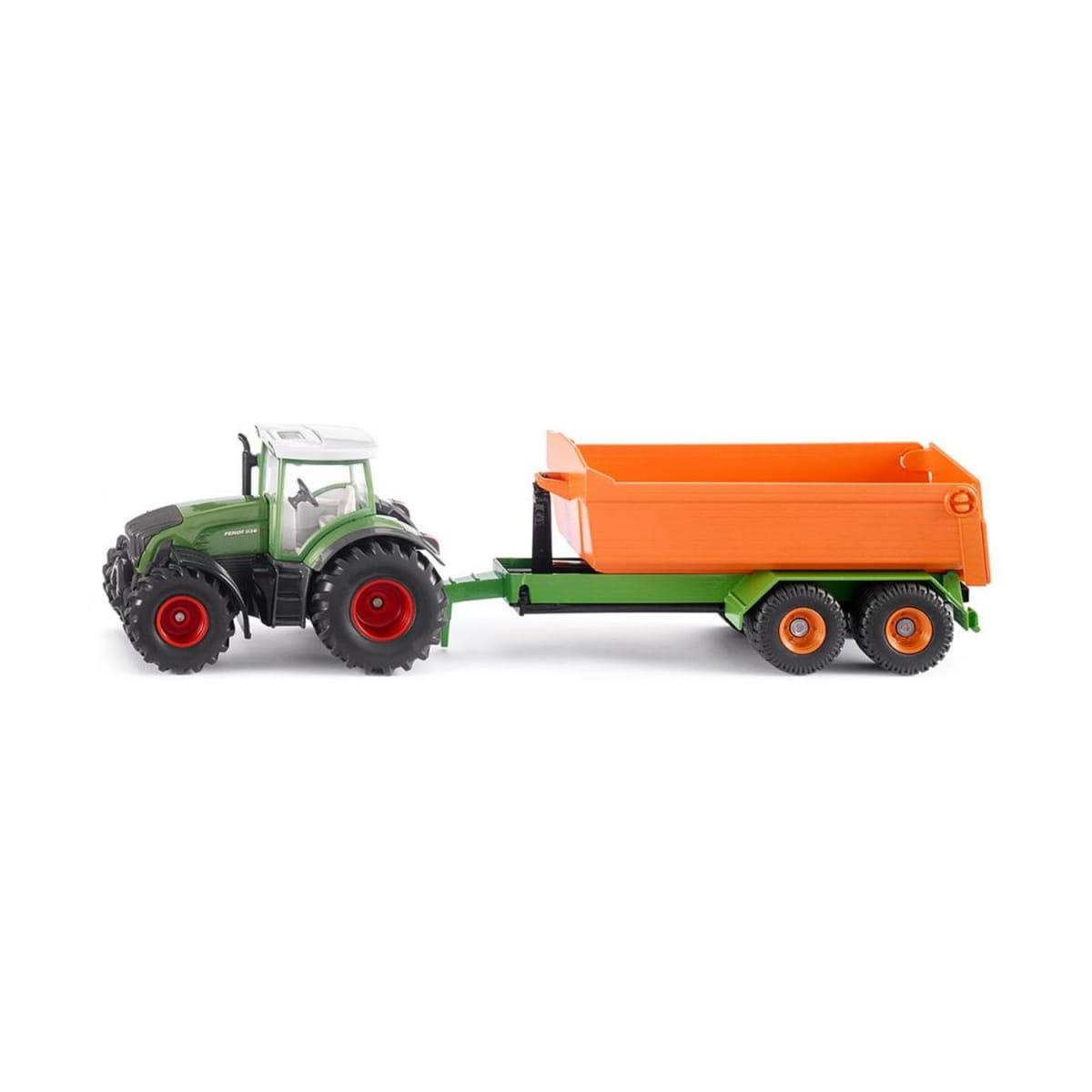 Трактор SIKU Fendt с крюковым прицепом - кузовом