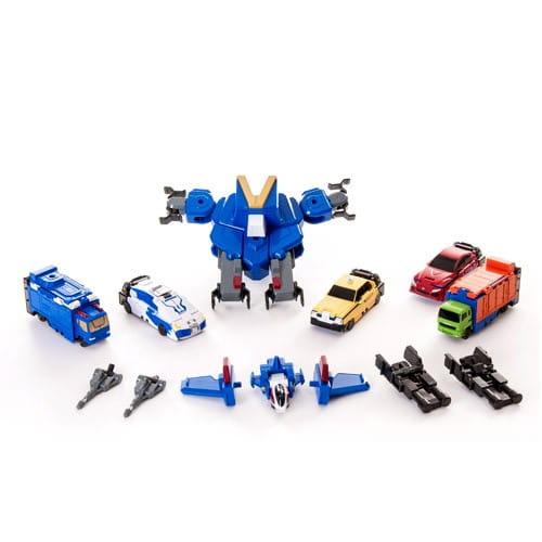 Купить Игровой набор Voov Byb-G Робот-самолет и 5 автомобилей (Bandai) в интернет магазине игрушек и детских товаров