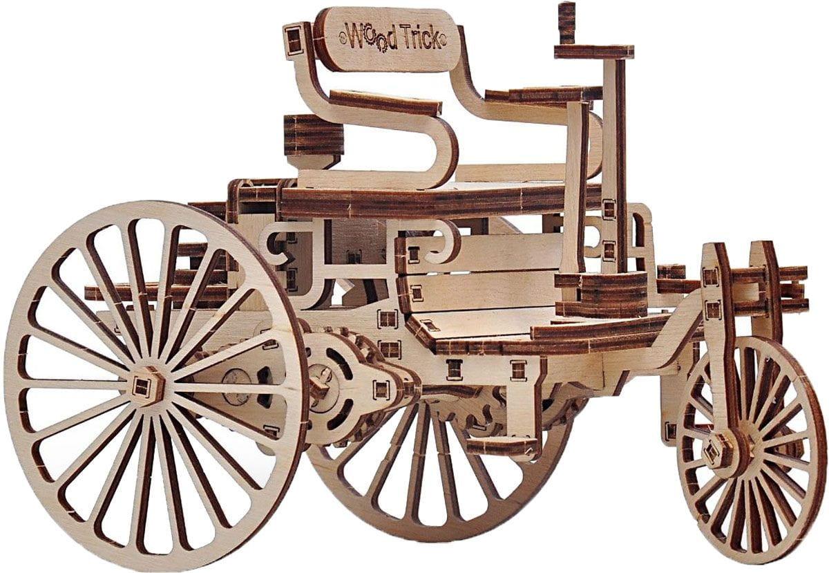 Конструктор деревянный WOOD TRICK Первый автомобиль - Деревянные конструкторы
