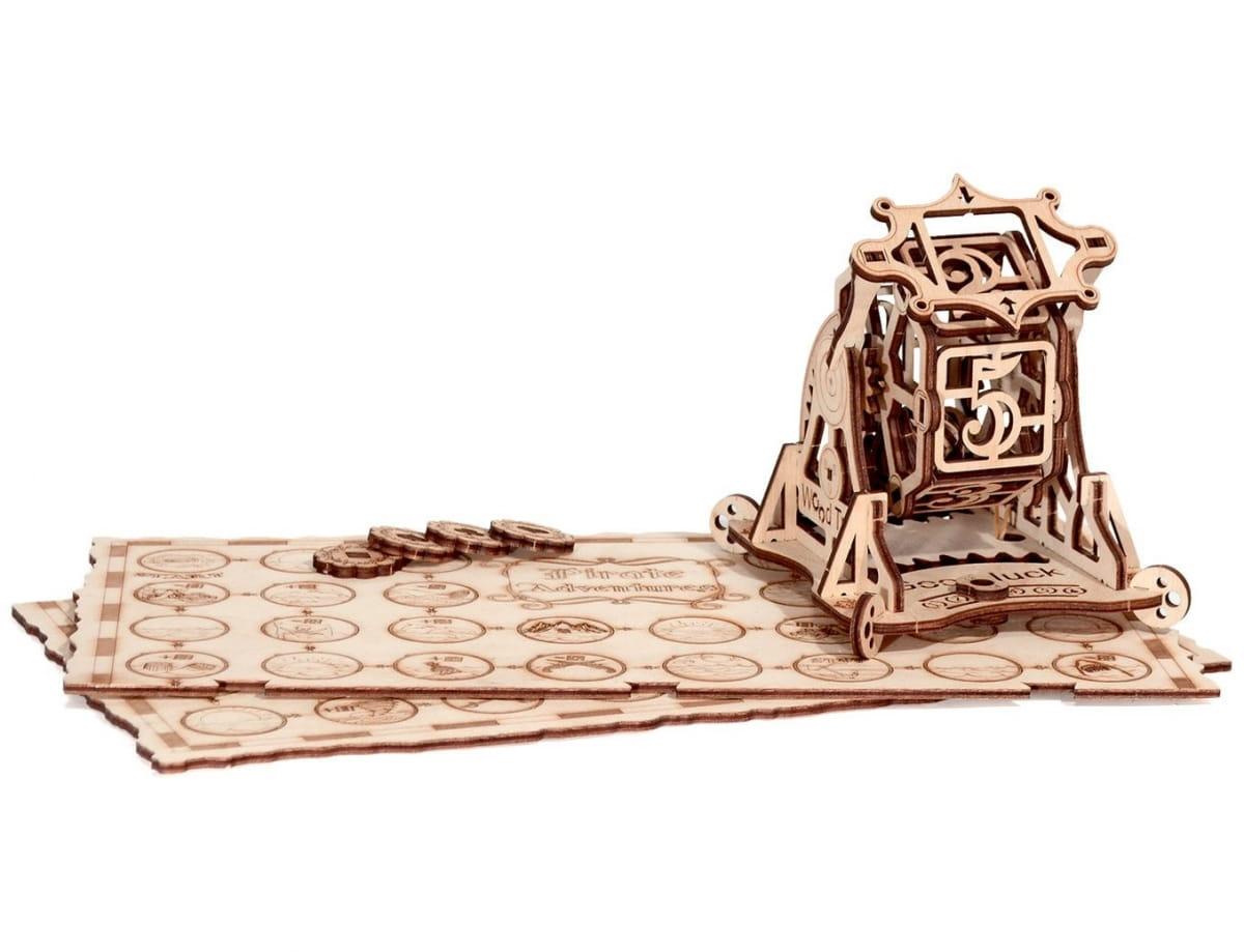 Конструктор деревянный WOOD TRICK Колесо фортуны c игрой Приключения пиратов - Деревянные конструкторы
