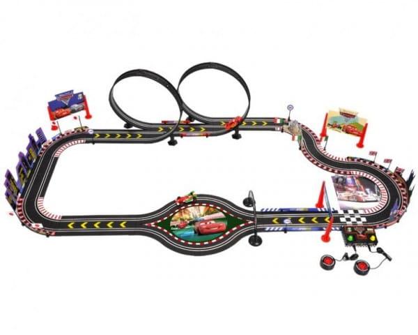 Купить Электронный автотрек Dickie Тачки-2 Мировой гран при в интернет магазине игрушек и детских товаров