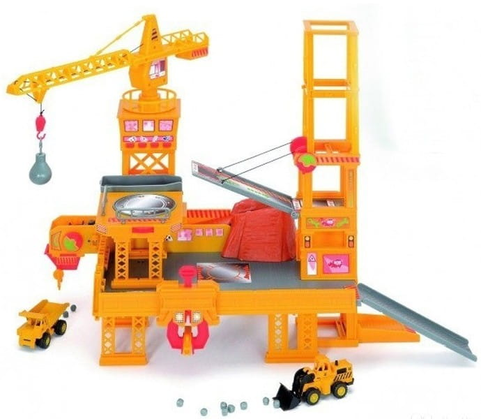 Игровой набор Dickie 3608350 Строительная площадка с автомобилями
