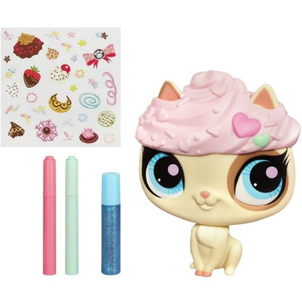 Купить Набор Littlest Pet Shop Укрась зверюшку - Кошка (Hasbro) в интернет магазине игрушек и детских товаров