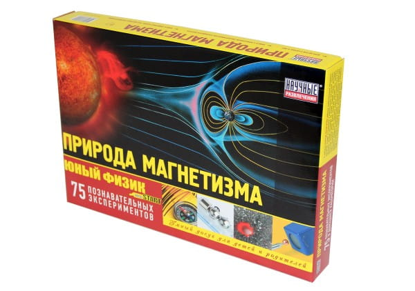 Набор для опытов Научные развлечения Юный физик Природа магнетизма (75 опытов)
