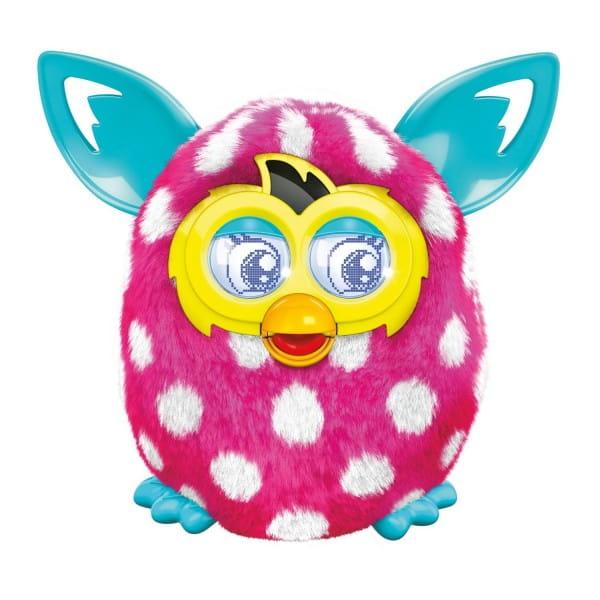 Купить Интерактивная игрушка Furby Boom Ферби Бум Белый горошек (Hasbro) в интернет магазине игрушек и детских товаров