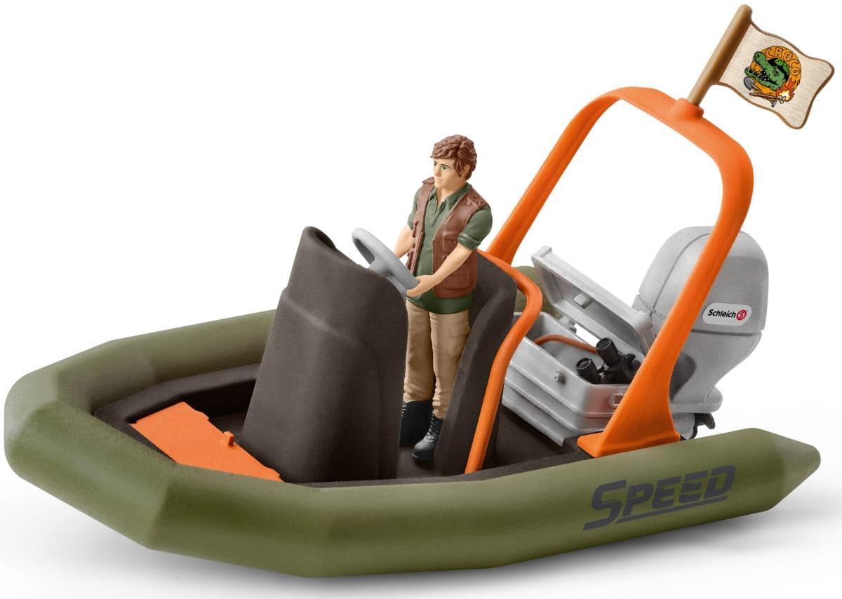 Набор SCHLEICH Исследователь в лодке - Игровые наборы для мальчиков