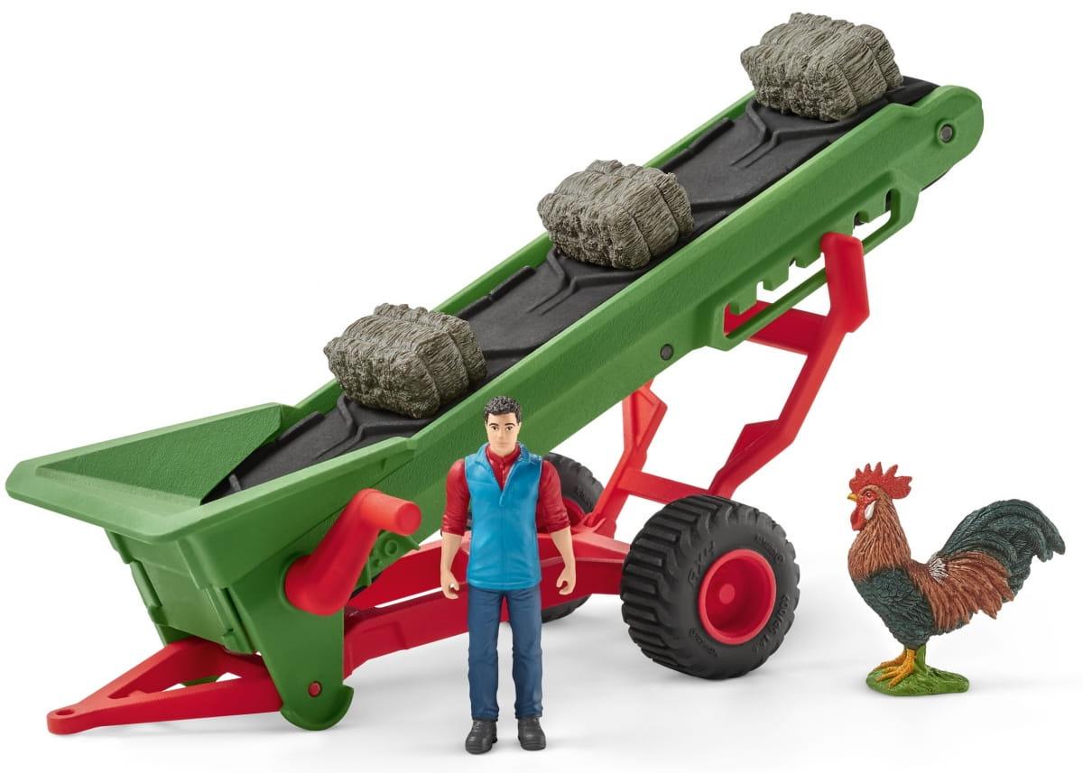 Набор SCHLEICH Фермер с конвейером для сена - Игровые наборы для мальчиков
