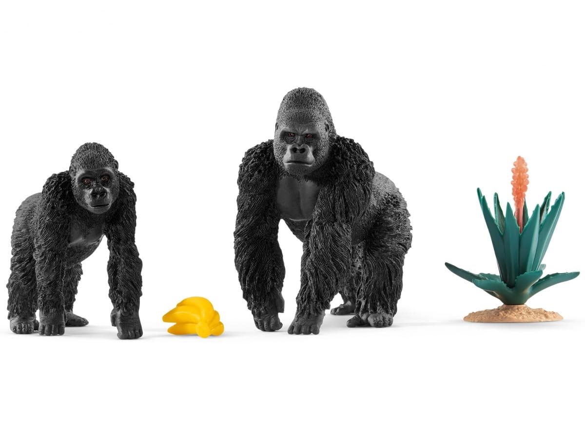 Набор SCHLEICH Гориллы в поисках пищи - Фигурки животных