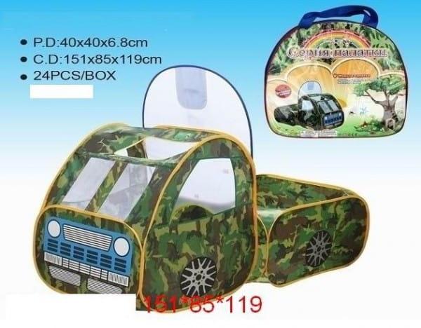 Купить Палатка Edu-Play Военная машина в интернет магазине игрушек и детских товаров