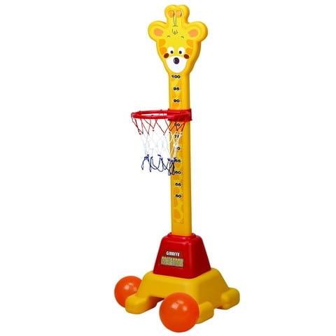 Баскетбольная стойка с кольцом и ростомером Edu-Play Жирафчик