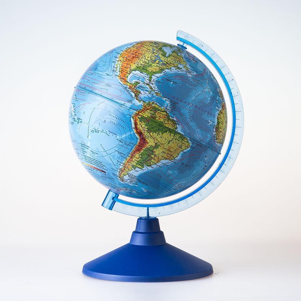 Глобус Земли GLOBEN физический - 21 см (с подсветкой)