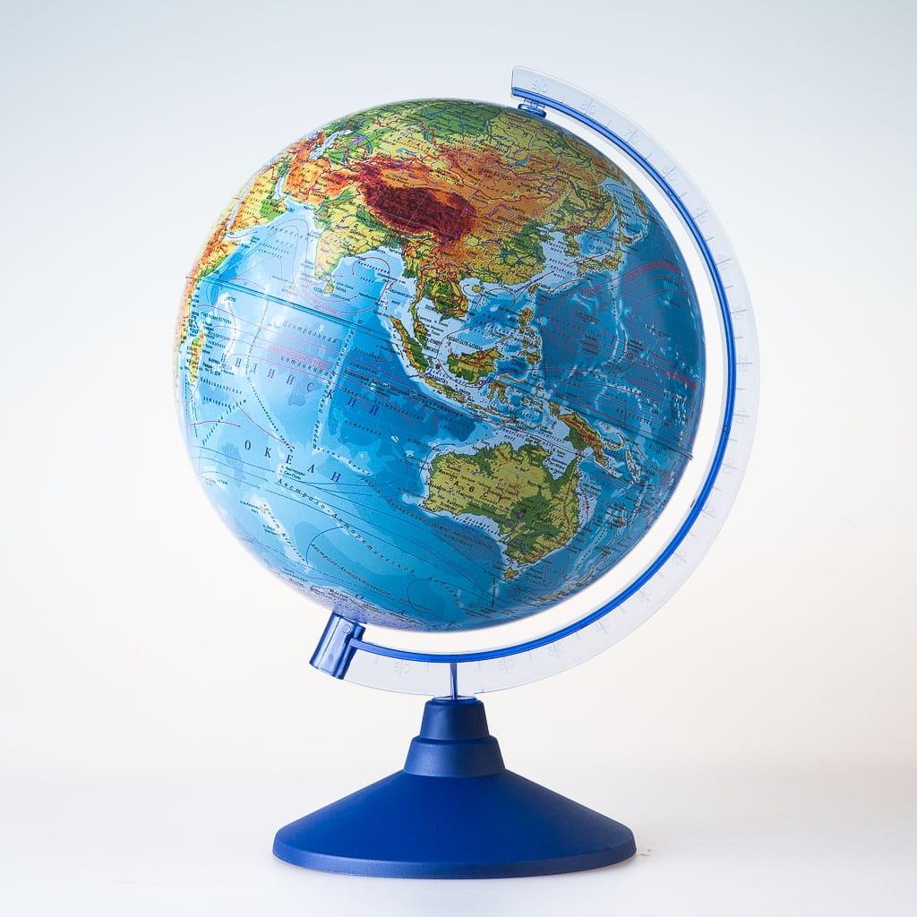 Глобус Земли GLOBEN физико-политический - 25 см (с подсветкой)