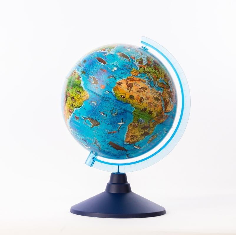 Детский глобус GLOBEN зоогеографический - 25 см (с подсветкой)