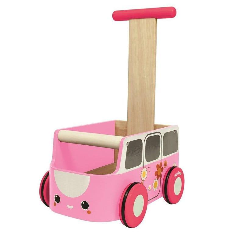 Машинка-каталка PLAN TOYS  розовая - Каталки и ходунки
