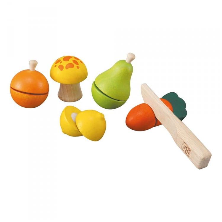 Игровой набор PLAN TOYS Фрукты и овощи - Все для юной хозяйки