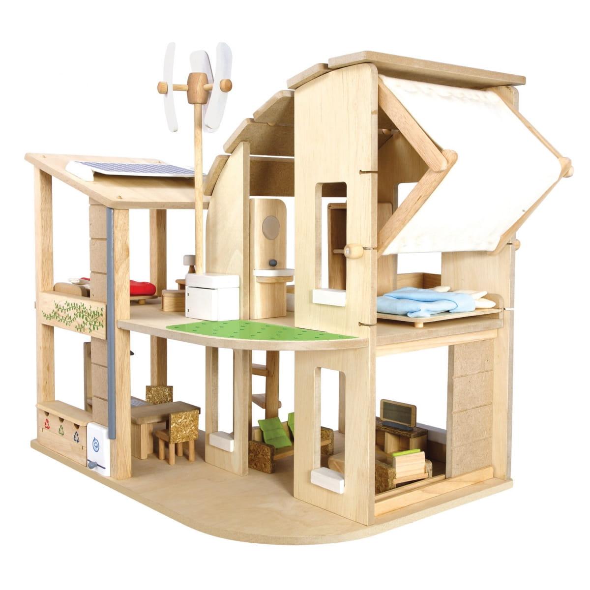 Кукольный домик PLAN TOYS Эко (с аксессуарами)