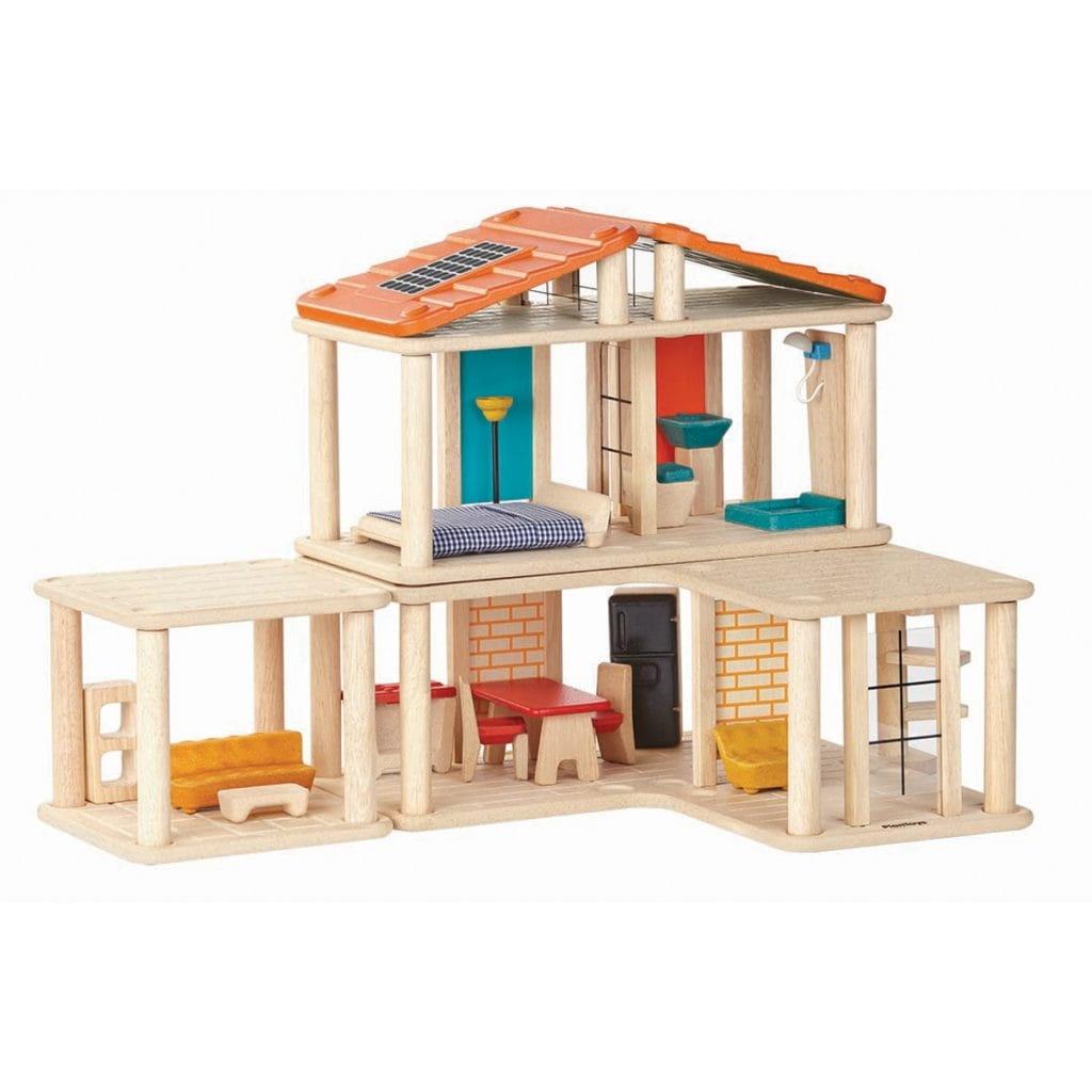 Кукольный домик-конструктор PLAN TOYS (с мебелью)