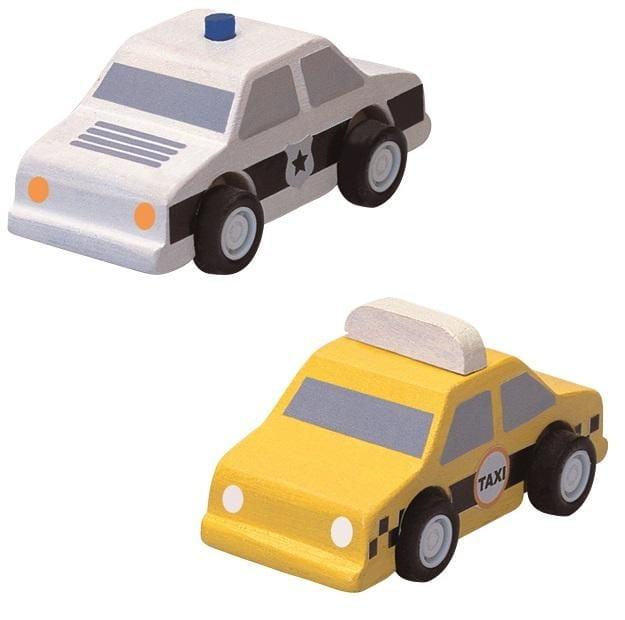 Набор машинок PLAN TOYS Такси и полиция - Машинки и самолетики