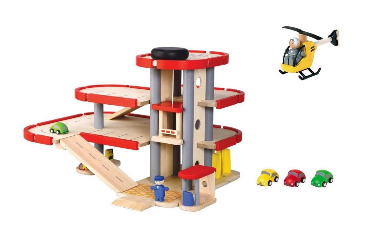 Игровой набор PLAN TOYS Паркинг (3 уровня)