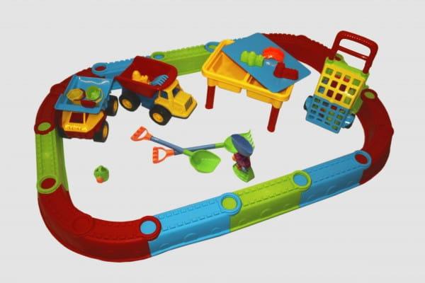 Песочница большая и стол-песочница Edu-Play Веселый Пляж (19 предметов)