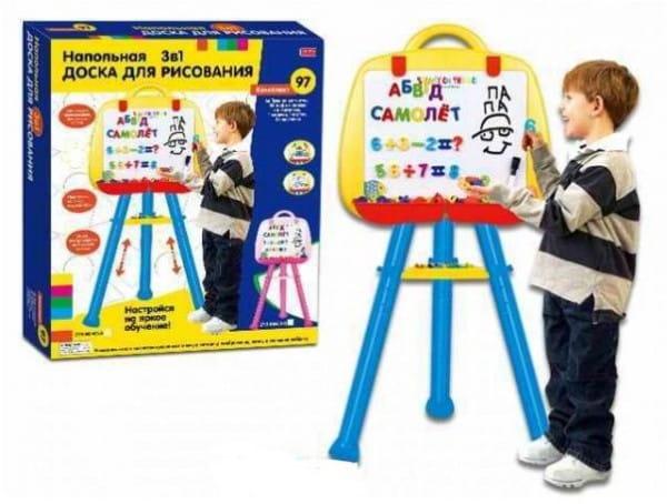Купить Напольная доска с магнитными русскими буквами и цифрами Edu-Play (97 шт.) в интернет магазине игрушек и детских товаров