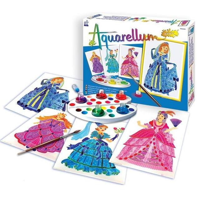 Акварельная раскраска SENTOSPHERE Королевские принцессы - Наборы для творчества