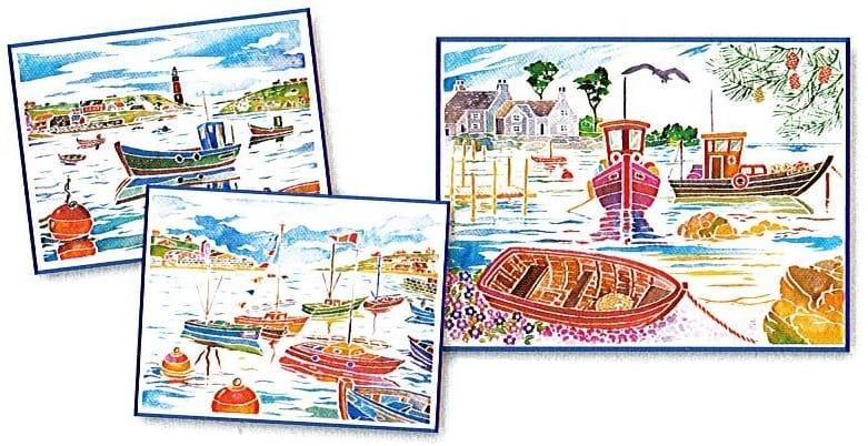 Акварельная раскраска SENTOSPHERE Кораблики - Наборы для творчества